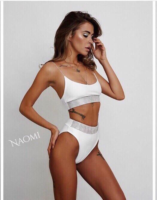 93d480985f6c1 МБ раздельный купальник с высокой талией, топ с тонкими шлейками - Moda  Best- платья
