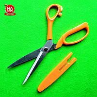 """Ножницы швейные 23см """"Taksun"""" (№9) с чехлом. Оранжевый"""