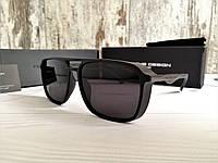 Мужские солнцезащитные очки с шорами Porsche Design черные (реплика)