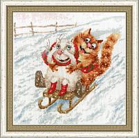 Набор для вышивки крестом Золотое Руно ВК-045 «С горочки»