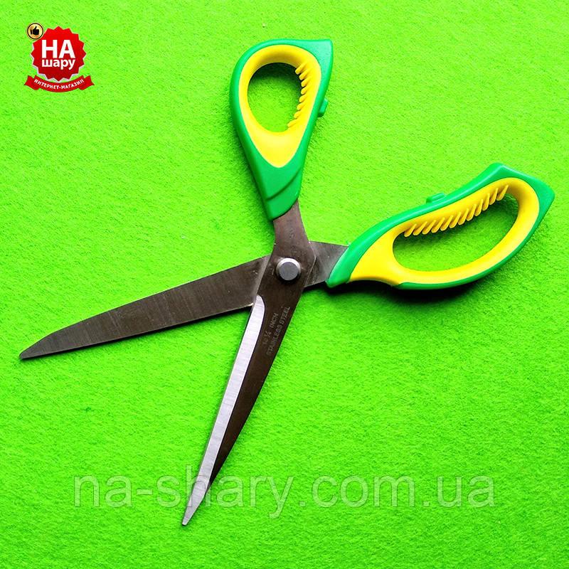"""Ножницы швейные 27.5см """"Taksun"""" (№10.5). Зеленый"""