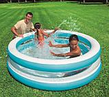 Детский надувной бассейн intex «линза» с прозрачными стенками, 203 х 51 см, фото 2