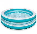 Детский надувной бассейн intex «линза» с прозрачными стенками, 203 х 51 см, фото 3