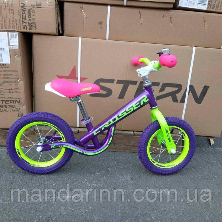 Беговел детский BALANCE bike (AIR) CROSSER (12дюймов).