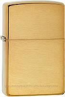 TV Shop  Зажигалка Zippo 168 Brushed Brass Armor, подарок другу