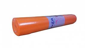 Йогамат MS1847(Pink) Розовый ПВХ, 173-61см,толщина4мм,в кульке,61-10см ((Оранжевый))
