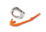 55944 набор маска+трубка 3-8 лет акула, Набор детский для плавания, Маска для подводного плавания детская