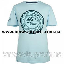 Мужская футболка Land Rover Men's Travel Stamp Graphic T-Shirt, Light Blue