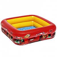 Красный надувной бассейн для детей 85х85х23 см, фото 1