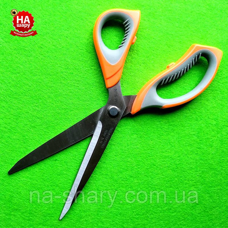 """Ножницы швейные 27.5см """"Taksun"""" (№10.5). Оранжевый"""