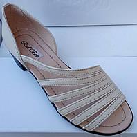 474099c55 Босоножки женские на низком каблучке из натуральной кожи от производителя  модель РБ0344
