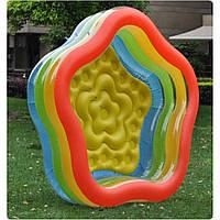 Практичный надувной бассейн для детей 185-180-53см, фото 1