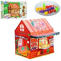 Палатка M3771 домик,110-70-110см,на колыш,1вх.на липуч,окно,продукты18шт,в кор-ке,56-35-7,5см