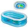Переносной детский надувной бассейн Intex «Нежность» 163x107x46