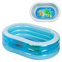 Переносной детский надувной бассейн Intex «Нежность» 163x107x46, фото 1