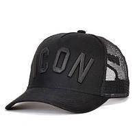 Бейсболка ICON DSQUARED2 Black с сеткой, фото 1