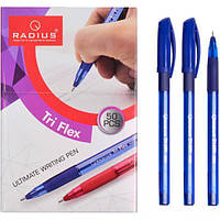 """Ручка шариковая RADIUS """"TriFlex PL"""" на масляной основе Tri Flex синая 50 штук в упаковке"""