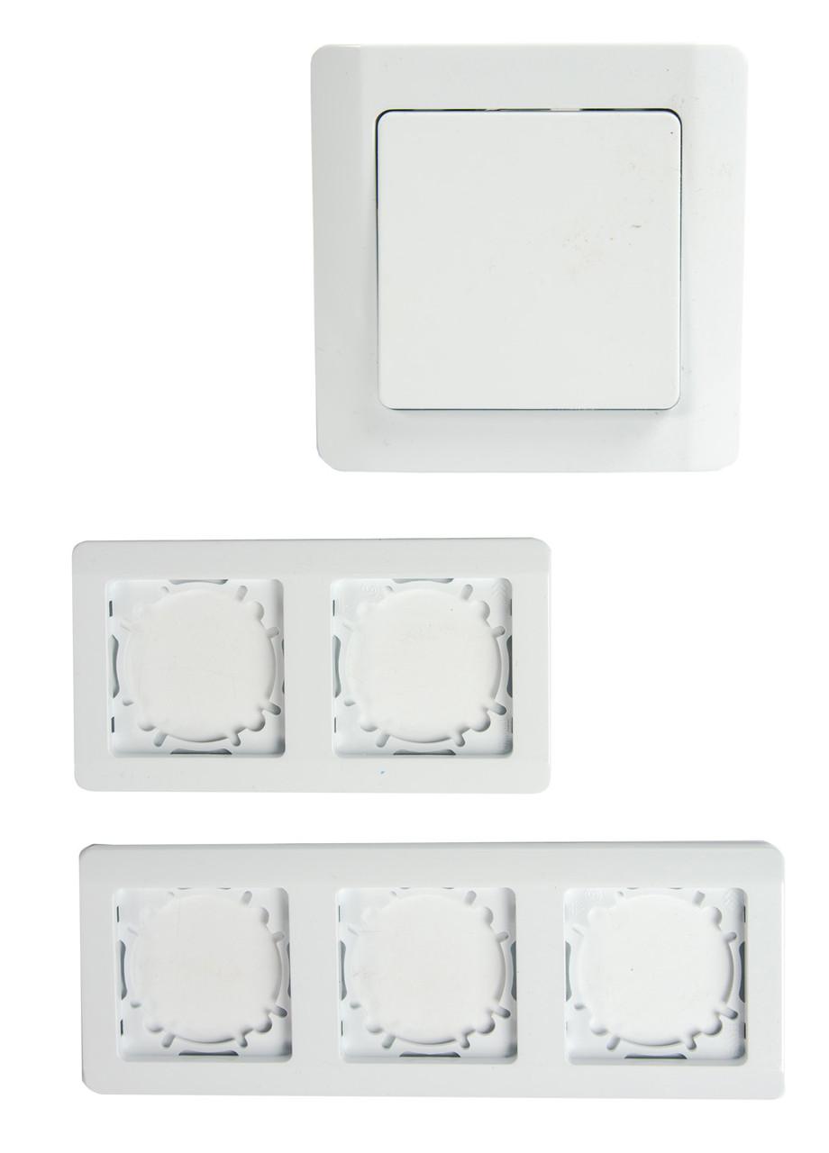 Набор выключателей и рамок для розеток Powerfix 9х34х6см Белый