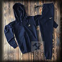 Спортивный костюм Nike Air синего цвета (Найк) на молнии с капюшоном