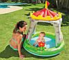 """Детский надувной бассейн с навесом """"Королевский дворец"""" 122*122 см"""