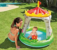 """Детский надувной бассейн с навесом """"Королевский дворец"""" 122*122 см , фото 1"""