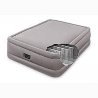 Двухспальная надувная кровать с встроенным насосом 203х152см, Intex, фото 1