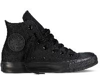 Кеды Converse All Star Black Monochrome High черные текстиль высокие оригинал