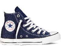 Кеди Converse All Star Navy High сині текстиль високі оригінал