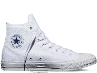 Кеды Converse Chuck II White Mono High белые текстиль высокие оригинал, фото 1