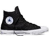 Кеди Converse Chuck II Black High чорні текстиль високі оригінал