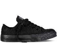 Кеди Converse All Star Black Monochrome Low чорні текстиль низькі оригінал, фото 1