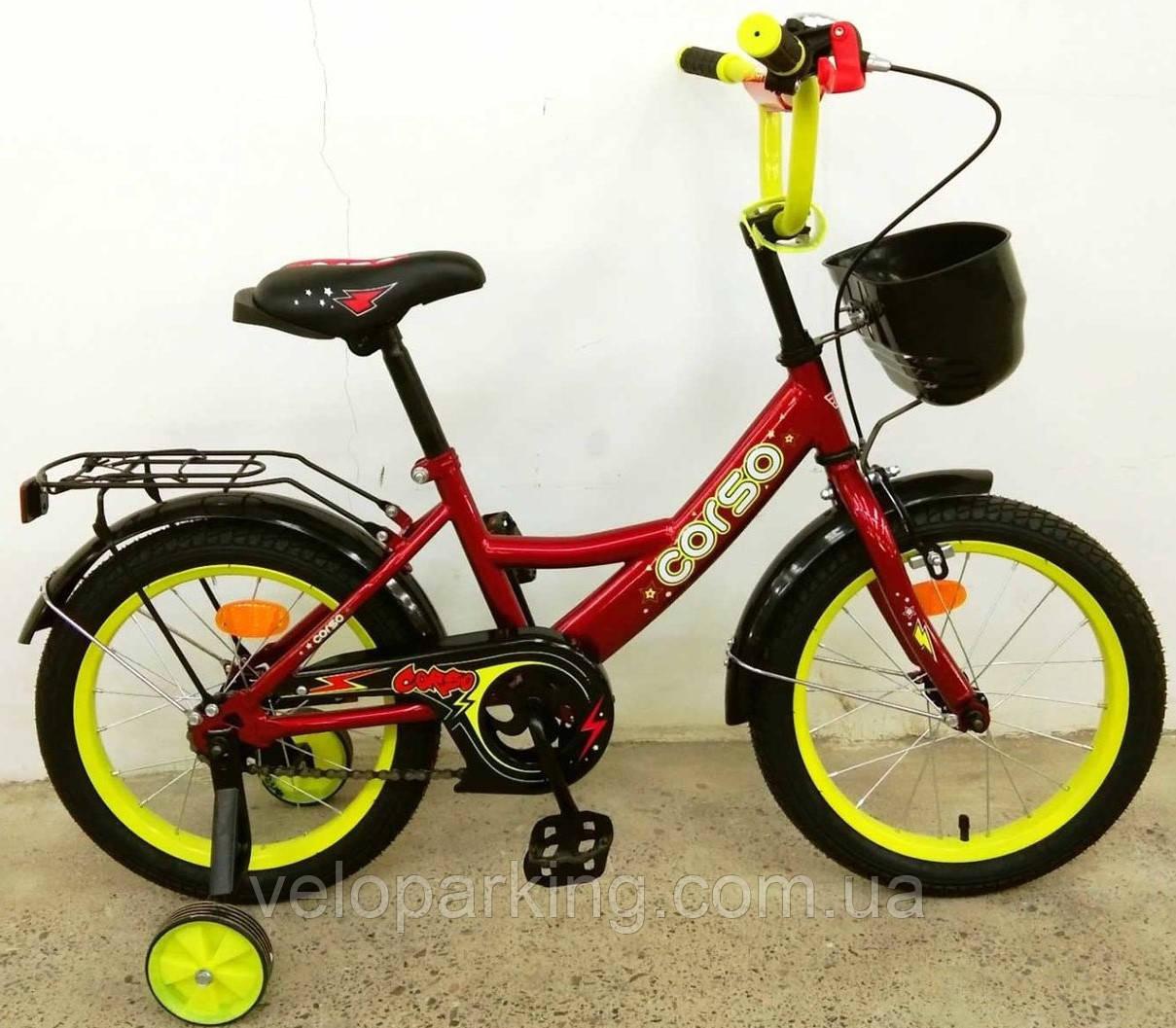 Детский велосипед Corso 16 дюймов (2019) new