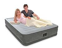 Надувная велюр кровать 203-152-33см, фото 1