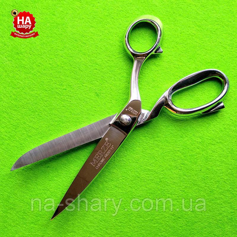 """Ножиці """"MERZE"""" 28см.(№11) Хром"""