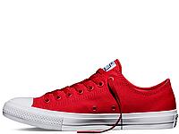 Converse Chuck II Salsa Red Low оригінал червоні текстиль низькі
