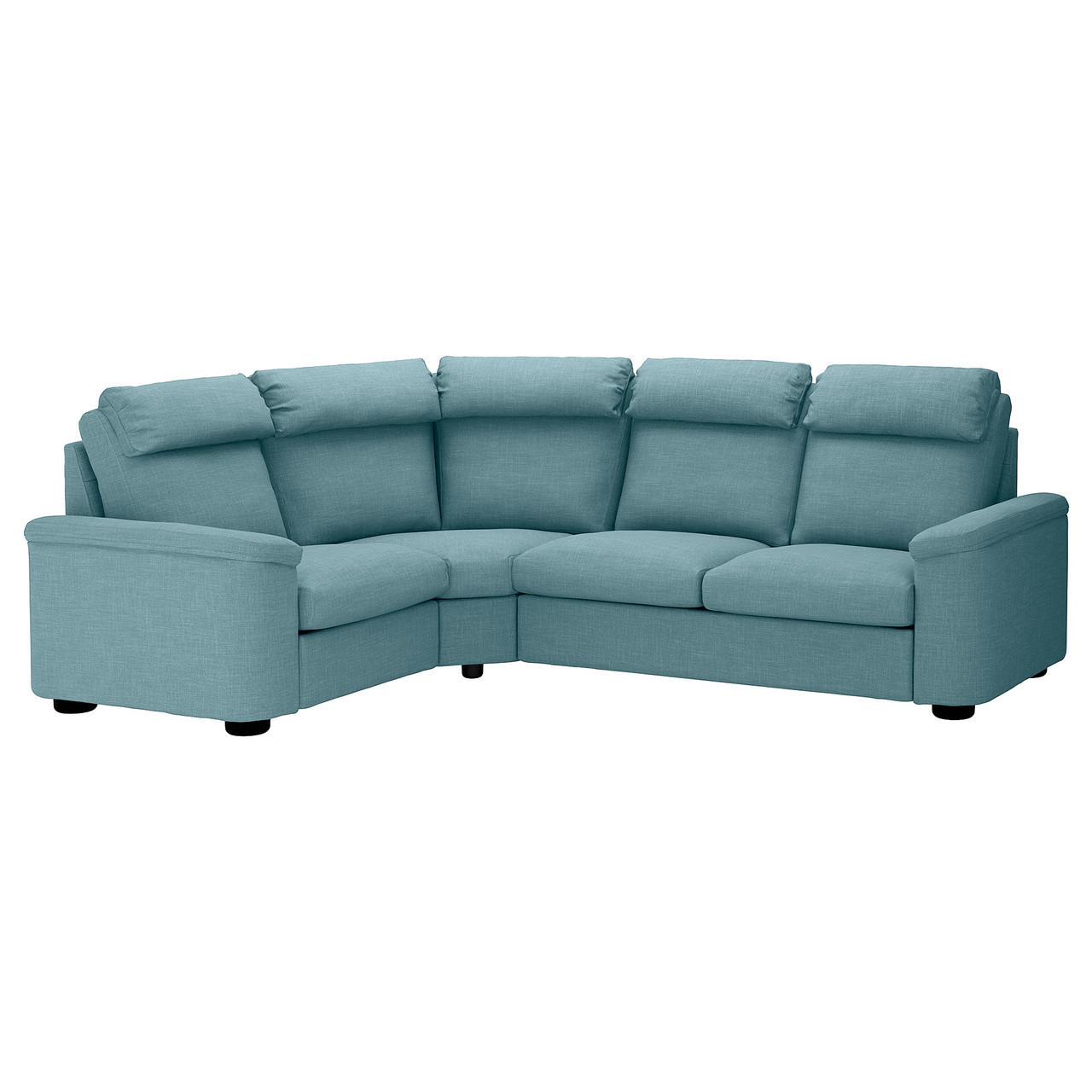 Диван IKEA LIDHULT 4-местный угловой Gassebol голубой 492.574.52