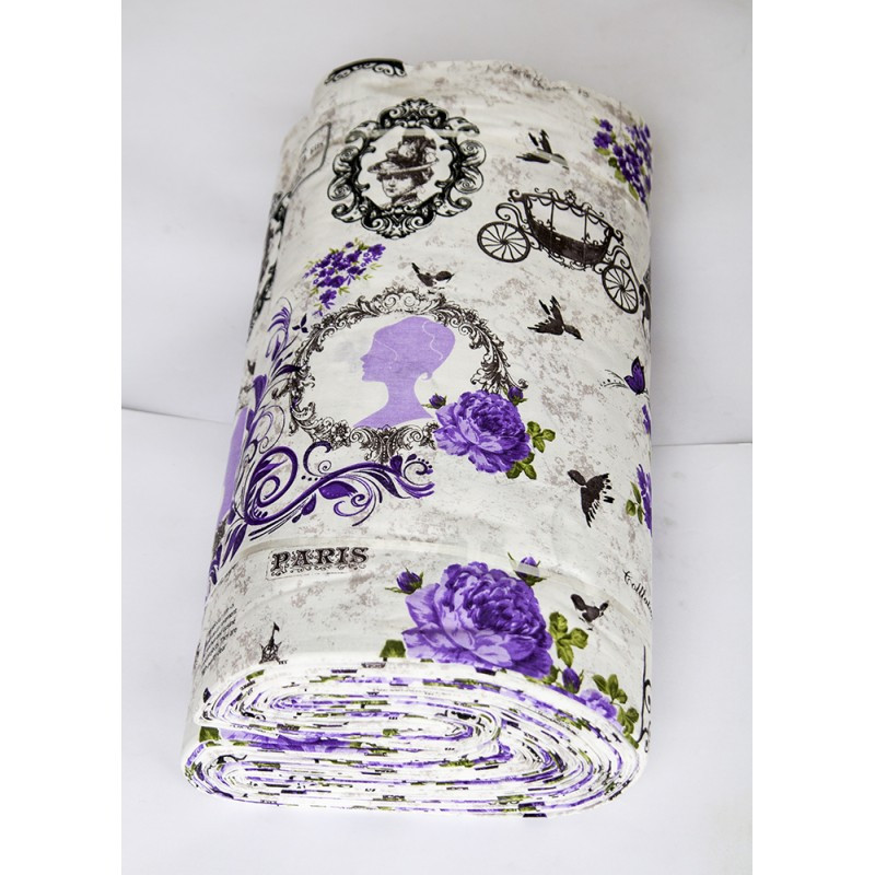 Ткань ранфорс Турция - Louvre 11361 V3 lila (220 ширина)