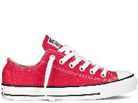 Жіночі кеди Converse All Star Red Low оригінал червоні низькі текстиль