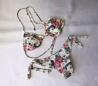 """Женский купальник бикини """"Atlantic"""" норма размеры 36-40, молочного цвета, фото 1"""