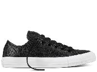 Женские Converse All Star Pebbled Leather Black Low оригинал черные кожа низкие, фото 1
