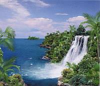 """Фотообои бумажные на стену, 201х242 см """"Остров сокровищ"""", фотообои готовые, фотообои природа, 15 листов"""