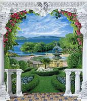 """Фотообои бумажные на стену, 242х201 см """"Царский сад"""", фотообои готовые, фотообои природа, 15 листов"""