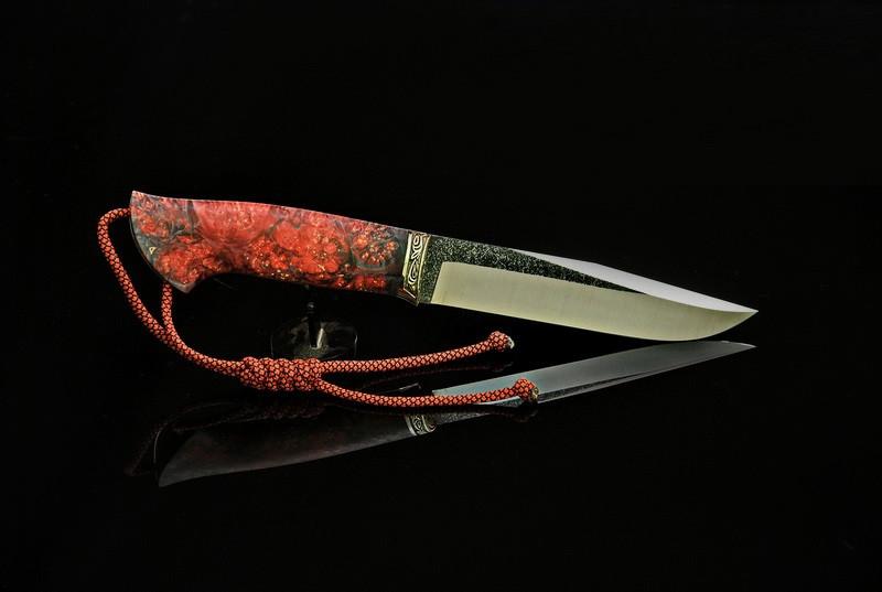 "Нож для охоты ручной работы ""Охотник"", N690"