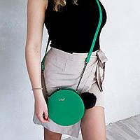 Клатч поцелуйчик в зеленом цвете от David Jones Арт.01245, фото 1