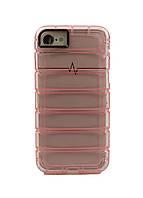 Чехол на IPhone 7, 8 WAVE 14х7см Розовый, Прозрачный