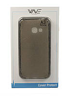 Чехол на Samsung  A 3 WAVE 14х7см Прозрачный, Черный