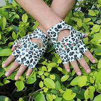 Перчатки для водителей женские  леопардовые