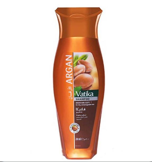 Шампунь для сухих волос Дабур Ватика увлажнение c маслом Аргана, Dabur Vatika Argan Shampoo Moisturе,200 мл