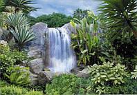 """Фотообои бумажные на стену, 194х268 см """"Водопад Аллегро"""", фотообои готовые, фотообои природа, 16 листов"""