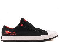 Женские Converse All Star Off-Road Black/Red Low оригинал черные низкие текстиль